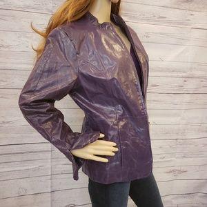 Pamela McCoy purple leather jacket size medium